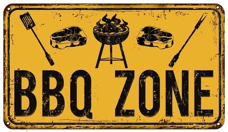 Barbecue Zone Sign
