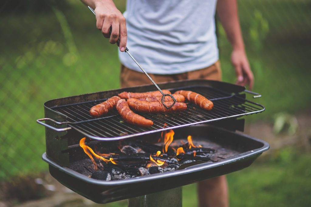 grill hot dogs